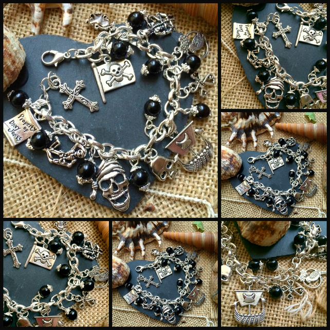 Black Pearl Pirate Themed Bracelet