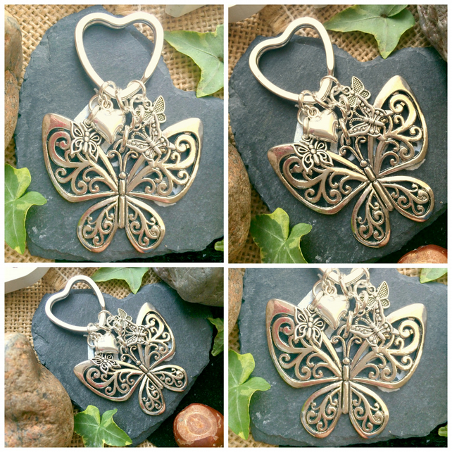 Butterfly Keyring  Bag Charm