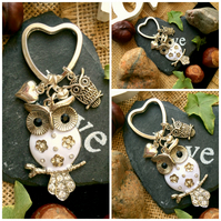 Sale OWL Lovers Keyring Bag Charm
