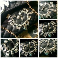 Shoe and Handbag Lovers Themed Bracelet :o)