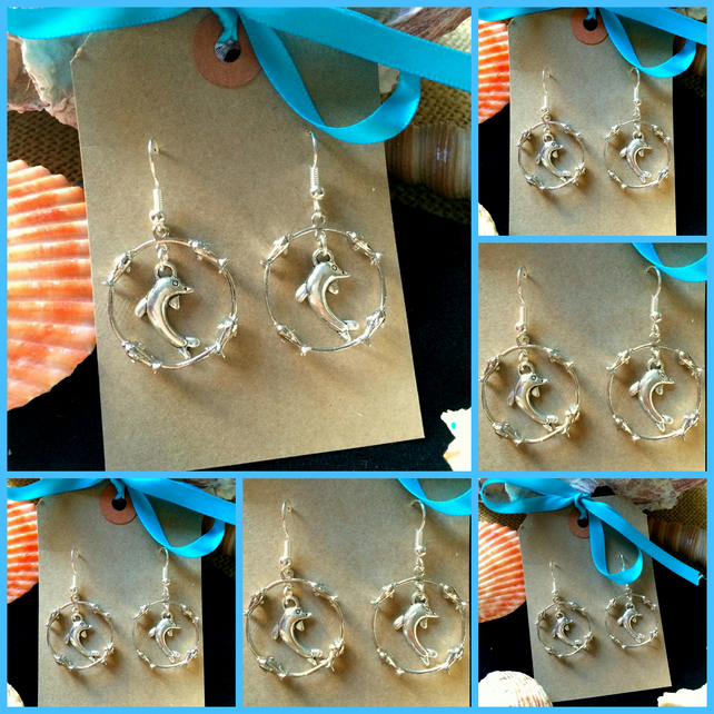 Dolphin Drop Earrings