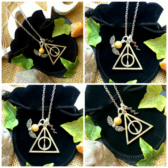 "Offer Deathly Hallows Harry Potter Necklace on 18"" chain"
