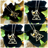 "Deathly Hallows Harry Potter Necklace on 18"" chain"