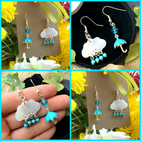 Umbrella, Rain and Cloud Earrings