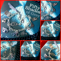 SALE 50 Shades of Grey Charm Bracelet