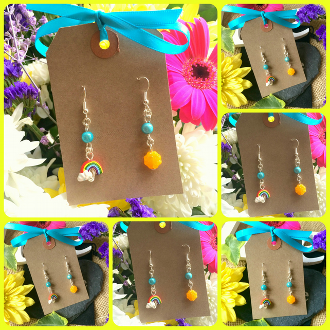 Rainbow and Sunshine Earrings :-)