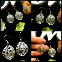 Ornate Leaf Earrings