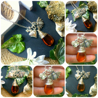 Drop of Honey  - Bee Necklace