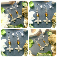 Drop of Honey - Bee Earrings
