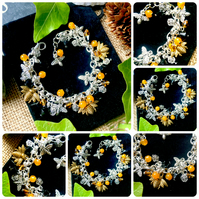 Bee and flower Charm Bracelet