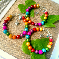 Rainbow Illusion Bead Bracelet - Truly Eyecatching
