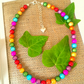 Rainbow Illusion Disco Bead Necklace - Truly Eyecatching