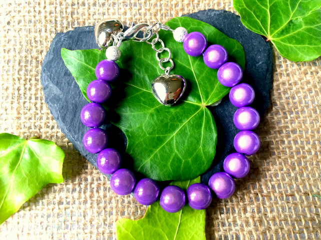 Purple Illusion Bead Bracelet - Truly Eyecatching