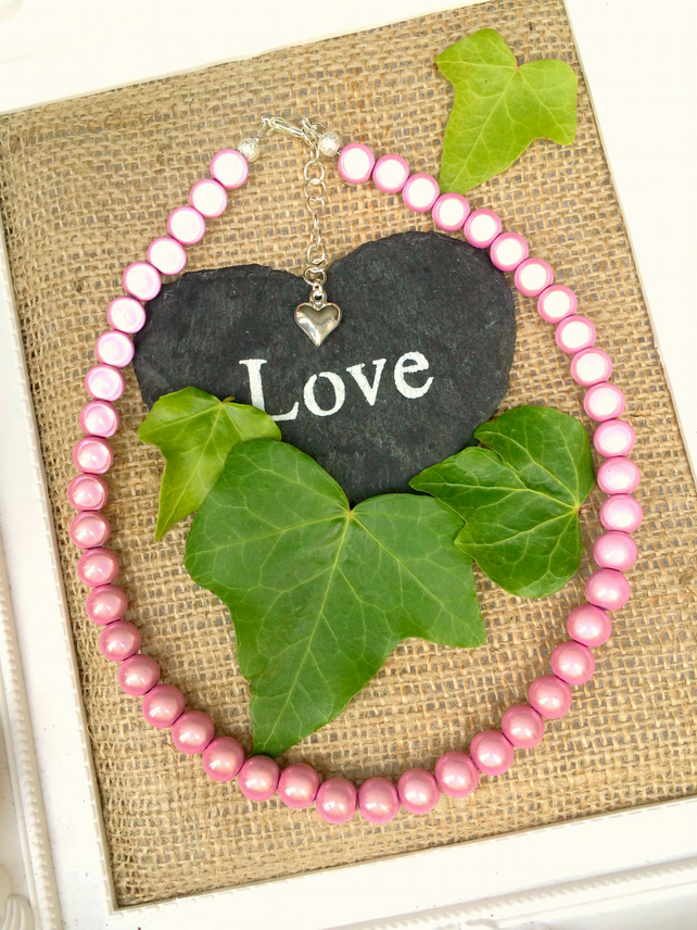 Pink Illusion Bead Necklace - Truly Eyecatching