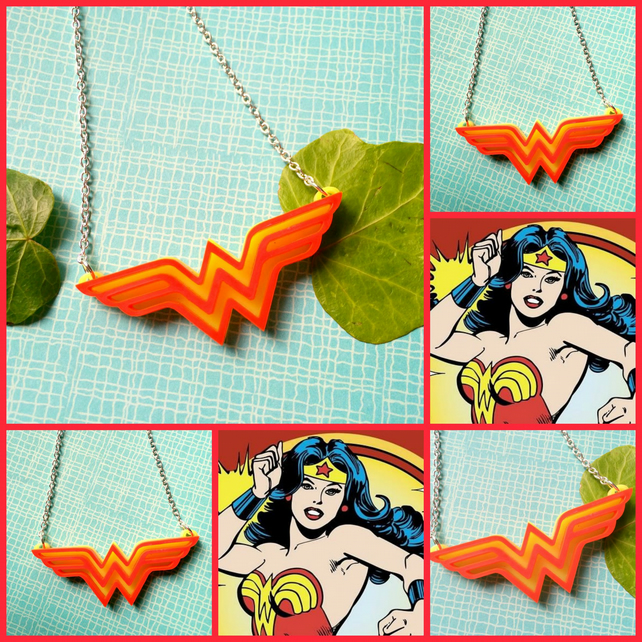 Sale - WONDER WOMAN for powerful women everywhere :-D Necklace