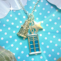 Dalek Tardis Star Dr Who Necklace