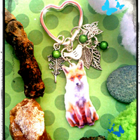 Sale Master Felix the Fox and wildlife charms - Bagcharm  Keyring