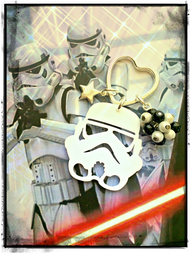 Storm Trooper laser cut Star Wars - Bagcharm  Keyring