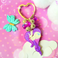 Purple Pony Laser Cut - Bagcharm Keyring