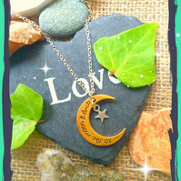 Sale To the Moon and Back Necklace
