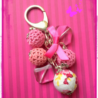 Pink - a mix of all shapes and sizes beads to make an eye-catching bag charm