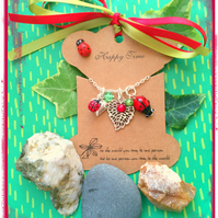Ladybird Love cluster Necklace
