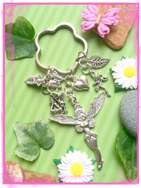 Fairy and Butterfly Keyring Bagcharm :-)