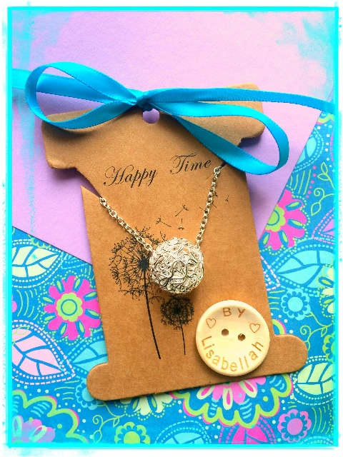 Sale Simple Wire Ball Necklace