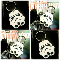Sale - Storm Trooper laser cut Star Wars - Keyring