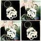 Storm Trooper laser cut Star Wars - Keyring