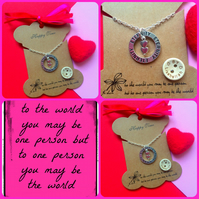 OFFER Valentines Eternity Necklace  - 2 hearts together x