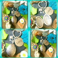 Love Locket Photo Bagcharm Keyring