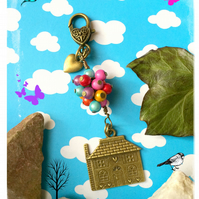 Offer Bronze  Whimsical Balloon lifting the house - UP - Bagcharm  Keyri
