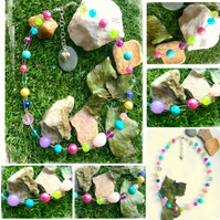 Bubble Candy Beaded Necklace