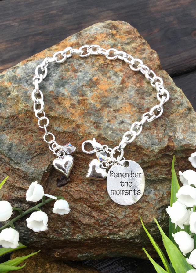 Remember the Moments tag and Swarovski Crystal Bracelet