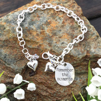 SALE Remember the Moments tag Bracelet