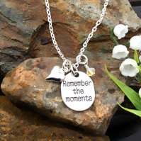 SALE Remember the Moments tag necklace