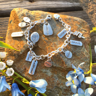 Positive Thinking Charm Bracelet - Affirmation