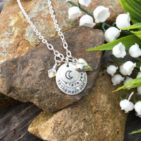 SALE - Moon and Back necklace