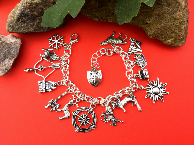 SALE Game of a Thrones Themed charm Bracelet