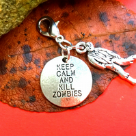 Walking Dead Kill Zombies charm