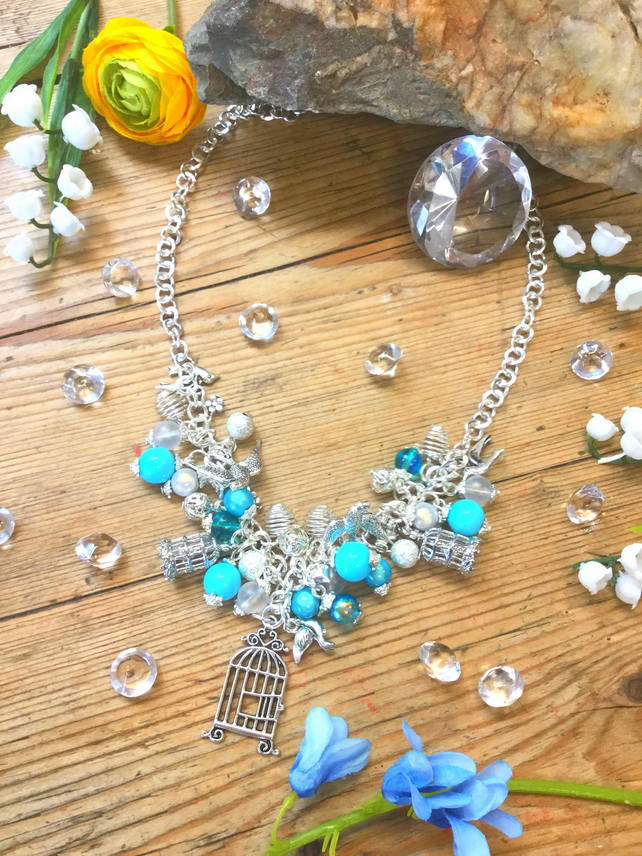 Be Free Bird Cluster necklace