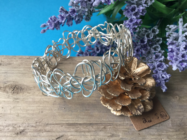 Silver Wire Bangle - By Lisabellah