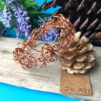 Copper Wire Bangle - By Lisabellah