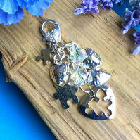 Piece by Piece- Bag charm Keyring