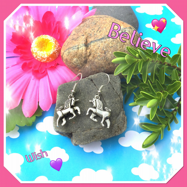 SALE Unicorn Earrings