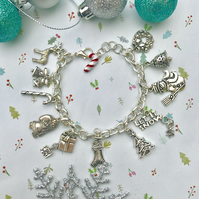 Christmas Themed Charm Bracelet - By Lisabellah