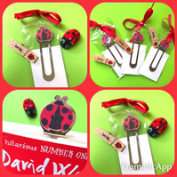 Ladybird Bookmark with Free cute