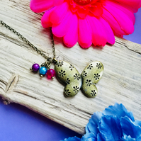 SALE Pretty butterfly necklace