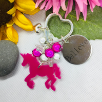 I believe in Unicorns Keyring